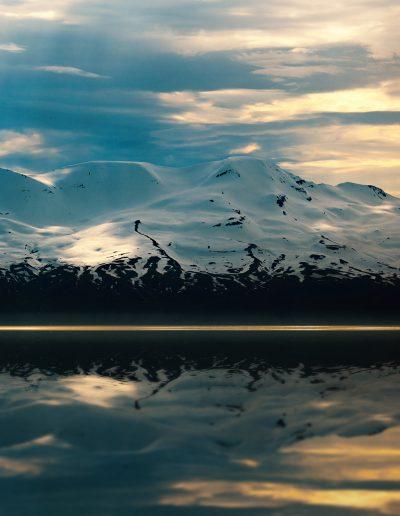 Island, Iceland, Whalewatching, Berge, Schnee, Winter, Sommer