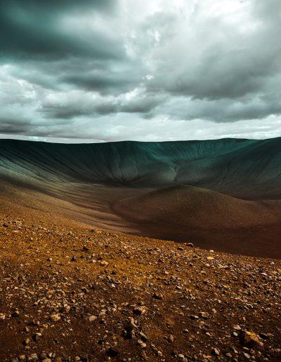 Island, Iceland, Krater, Vulkan, Berg, Stein