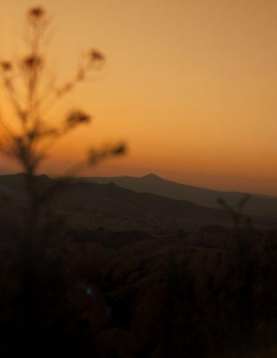 Türkei, Kappadokien, Sonnenuntergang, Berge