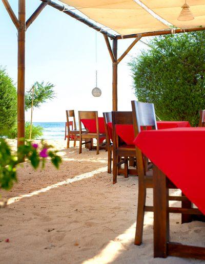 Gili Trawangan, Strand, Restaurant, Tourismus, Meer