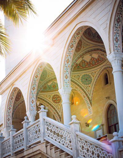 Moschee, Palme, Kirche, Sonne, Marmor, Gemälde