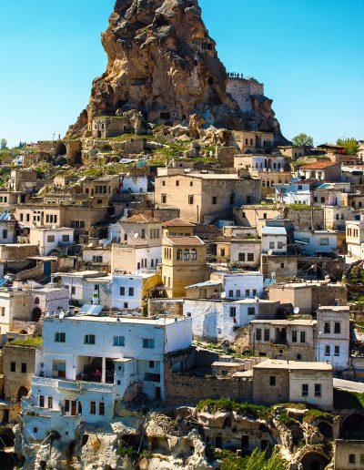 Türkei, Stadt, Dorf, Felsen, Stein, Haus, Tourismus