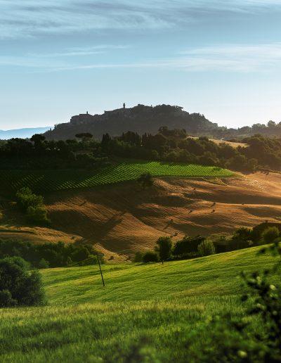 Toskana, Sonnenaufgang, Dorf, Stadt, Hügel
