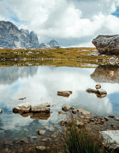 Dolomiten, Berge, See, Bergsee, Alpen, Fels
