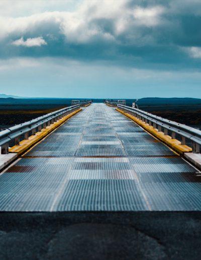 Island, Iceland, Brücke, Steppe, Wüste, Berge, Fluss, Bach