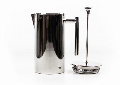 alfi, Chrom, Metall, Kaffe, Kaffeekanne, Deckel, Sieb