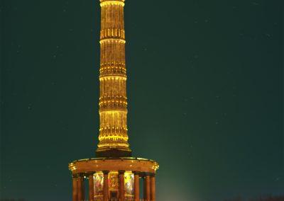 Berlin, Viktoria, Siegessäule, Friedensengel, Nacht, Limo