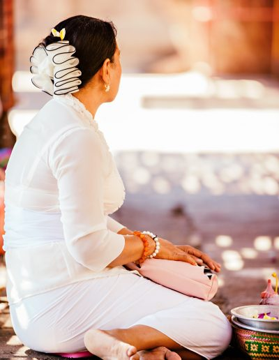 Bali, Indonesien, Kirche, Tempel, Perlen, Opfer, Blüten