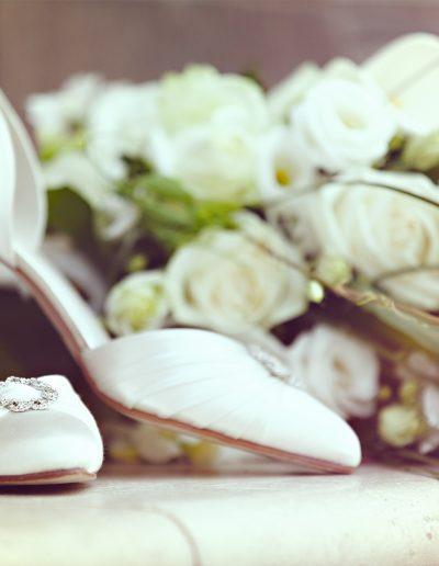 Schuhe, Diamanten, Blumen, Brautstrauß, Weiß