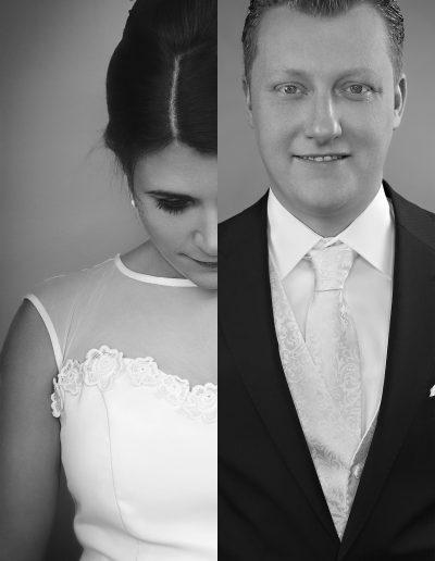 Brautkleid, Bräutigam, Frisur, Hochzeitsfotograf, Krawatte