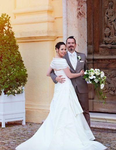 Wedding, Brautkleid, Anzug, Schleißheim, Schloss, Brautstrauß