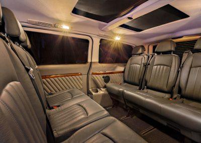 Fahrgastraum, Leder, Van, Rücksitz